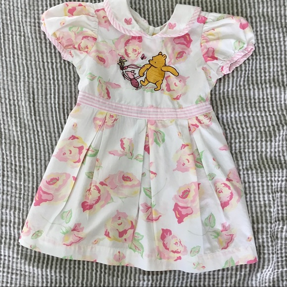 d050ed2c3 Disney Dresses | Floral Winnie The Pooh Dress | Poshmark